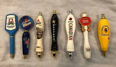 Brewing Beer Tap Handle Lot of 7 - IMPORTS Good condition. Spaten Molson Stella