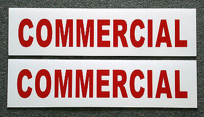 2 Commercial 6 X 24 Real Estate Sign Riders 2 Sided Outdoor New Free Ship