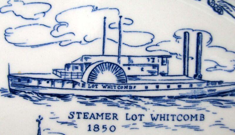 Centennial Commemorative Blue Plate MILWUAKIE, OREGON 1850-1950*Vernon Kilns Pty