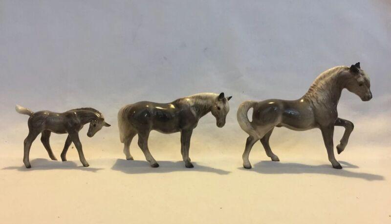 Hagen Renaker Morgan Horse Family