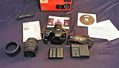 Sony Alpha SLT-A57 Digital SLR Camera (Black) Kit w/ DT SAM 18-55mm