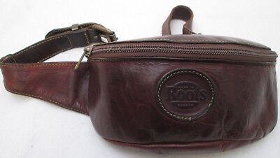 -authentique sac banane  roots canada  cuir tbeg bag