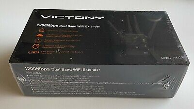 Victony WiFi Range Extender 1200Mbps Dual Band 2.4/5GHz Wi-Fi Internet Signal Bo
