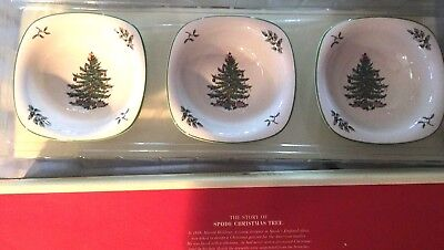 Set of 3 Spode Christmas Tree Dip Dishes New