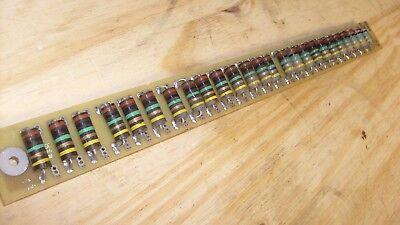Large Strip Of Bumble Bee Carbon Resistors - Vintage Radio Repair  C2