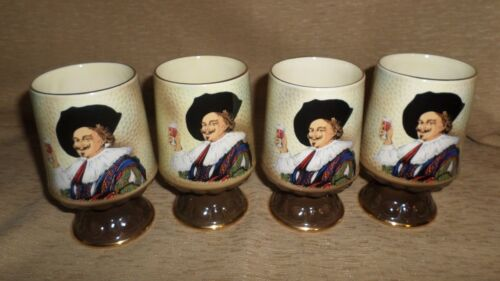 "Lot of 4 Vintage SylvaC Staffordshire England ""Cavalier""   Tankard Mug 5"" CUP"