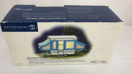 "Department 56 ""Home Away From Home"" Pop up Camper Trailer Snow Village New"