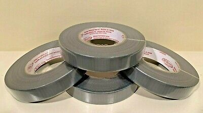 4-rolls Cloth Duct Tape 1 X 180 Silver Waterproof 8.5 Mil Thickness Usa Made