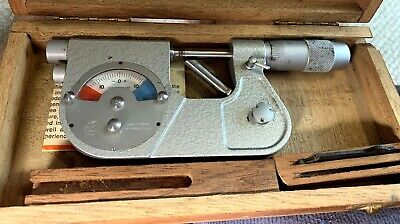 Etalon Indicating Micrometer 0-1 .0001 Made In Switzerland P. Roch Rolle