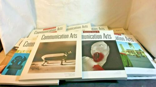 Lot of 9 Communication Arts Magazines Includes 7 Annuals