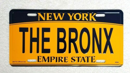 """""""THE BRONX"""" New York License Plate Official Size Embossed Souvenir Travel Gift"""