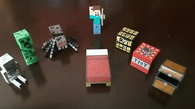 Minecraft toys action figures and accesories lot