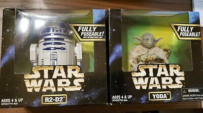 """1997 Kenner Star Wars Action Collection 6"""" R2D2 Figure Fully Poseable New In Box"""
