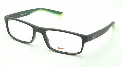 Nike NK 7090 Eyeglasses 010 Matte Black and Green Frames (Black And Clear Eyeglass Frames)