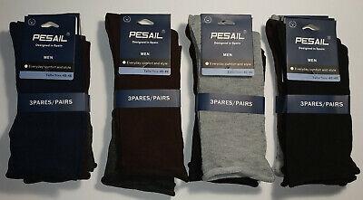 12 pares calcetines de vestir. Sin puño. 93% Algodón. Colores surtidos. 40...