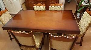 Timber Dining Table and Chairs Ermington Parramatta Area Preview