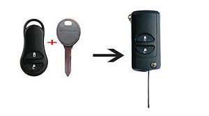 Jeep Grand Cherokee Chrysler PT Cruiser Voyager CONVERSION Flip Remote Key FOB
