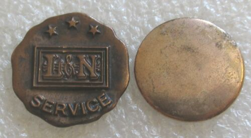 Antique Louisville and Nashville Railroad Company 15 Yr Service Award Lapel Pin