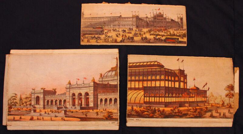 Original 1876 Centennial Exposition Litho Ephemera Lot