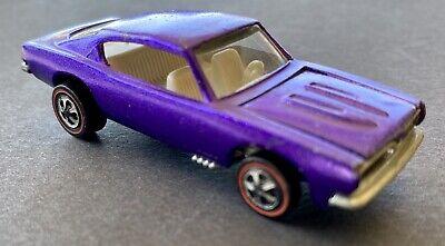 1967 STUNNING Hot Wheels Redline US Custom Barracuda Purple WHITE INTERIOR DANG!