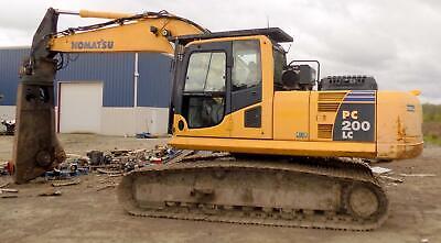 Komatsu Rotating Shear Excavator Model Pc200lc-8 W Labounty 1500r Demo 2011