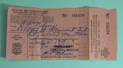 Details about  /Vintage 1971 Michigan Fishing License /& Trout Stamp   Lot 20-ec