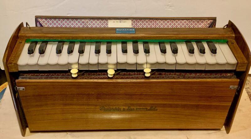 VNT Harmonium DWARKIN & SON LTD. Teak Used Nice Compact Quality