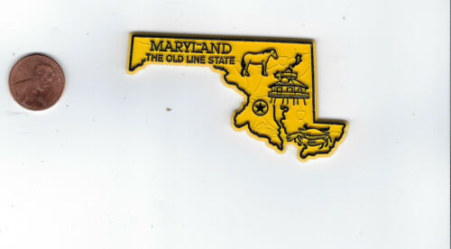 """MARYLAND   """"THE OLD LINE STATE""""   STATE OUTLINE MAP MAGNET , NEW"""