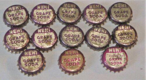 Lot of 13 Vintage Nehi Grape Soda Cork Bottle Caps Hickory, NC