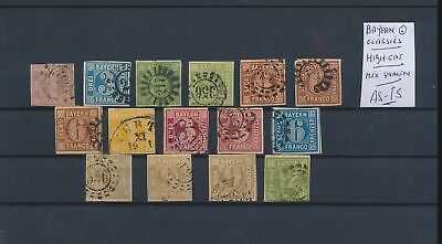 LL96809 Germany Bayern classic stamps fine lot used