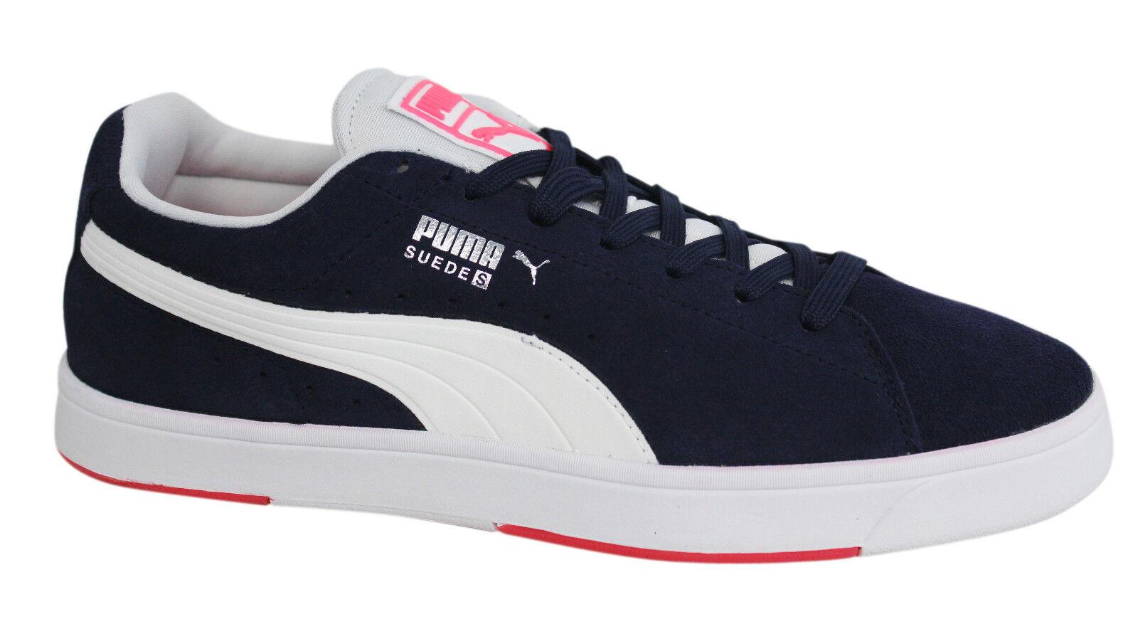 Detalles de Puma Gamuza S Con Cordones Zapatillas para hombre Azul Marino 356414 18 U106 ver título original