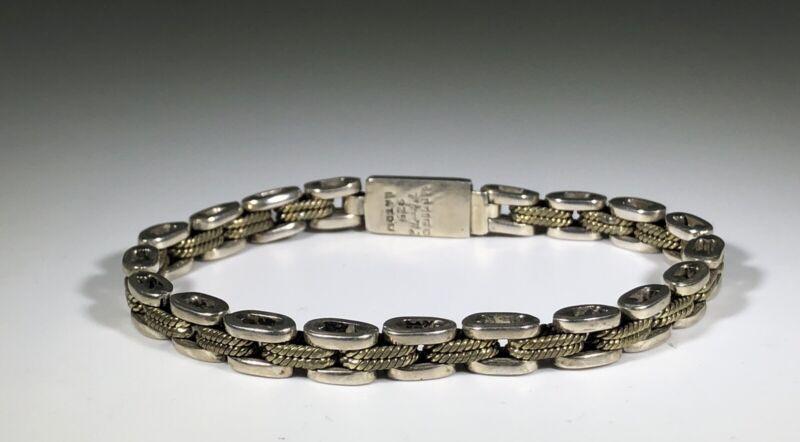 LP250 Laton Taxco TR-72 Mexico sterling silver brass link bracelet