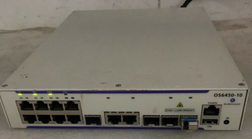Alcatel Lucent Switch Omniswitch Os6450-10 Os645010 10/100/1000 8ports