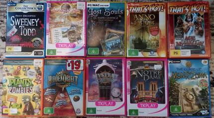 Lot of 10 PC games, incl. 8 hidden object games