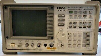 Hp 8563e 26.5 Ghz Spectrum Analyzer Opt 006008 W 85620a Mass Memory Module
