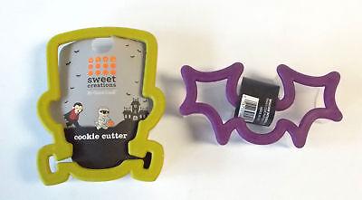 Bat Frankenstein Plastic Halloween Cookie Cutter Lot 2 NWT](Plastic Bats Halloween)
