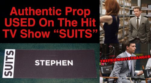 """Rare """"SUITS"""" STEPHEN HUNTLEY - NAME SIGN For CHAIR BACK PROP Used by MAX BEESLEY"""