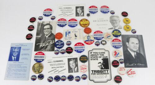 HUGE LOT Vintage State of Delaware Local Political Pin Pinback Button Ephemera