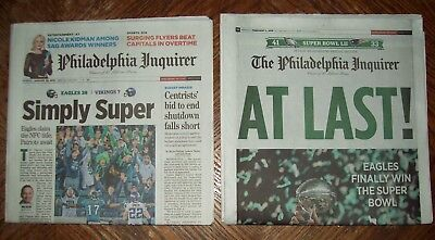 Phila Eagles Win Nfc Title   Super Bowl At Last Newspapers 1 21   2 5 Inquirer