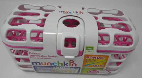 Munchkin Deluxe Dishwasher Basket with Bonus Spoon Pink