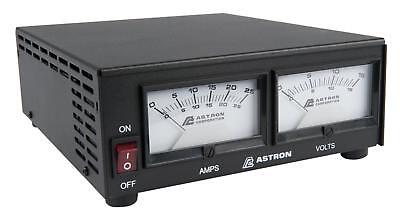 Astron Ss-25m - 25 Amp Switching Power Supply With Meters -- 20 Amp Continuous