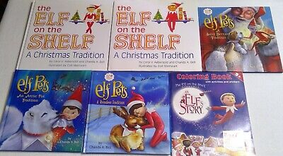 Elf on the shelf pets boy girl puppy fox book lot 6 hardcover picture Christmas
