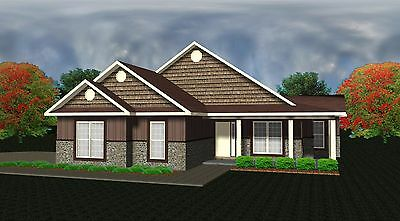 House Plans For 1545 Sq  Ft  3 Bedroom Country Style