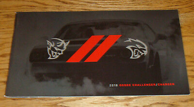 Original 2018 Dodge Challenger   Charger Sales Brochure 18 Srt Hellcat Demon