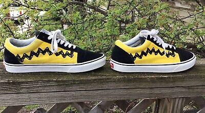 Vintage Vans OldSkool Peanuts Charlie Brown Good Grief Sneakers Men Shoes  SZ 10