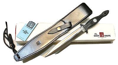 "Vintage Large 1980' Al Mar Seki Japan Shadow Dagger Knife Sheath Case 14""L Mint"