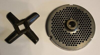 Used 32 Hubbed Kasco Never Sold 3248-f Meat Grinder Plate Knife