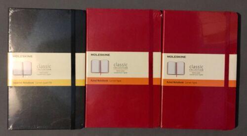 Lot of 7 Mixed Moleskine Notebooks