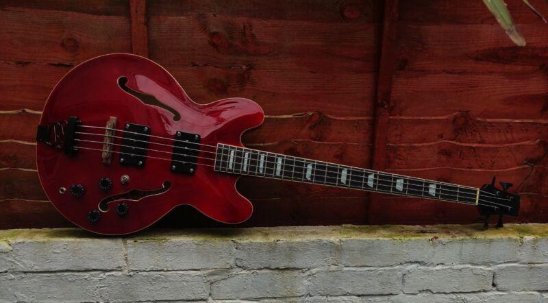 Custom Semi Hollow Semi Acoustic Bass Guitar