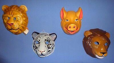 Play Halloween (Plastic Animal Masks:Cowardly Lion;Pig;Leopard;Lion;School)